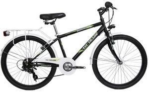 24 Zoll Kinder Jungen Jugend City Fahrrad Kinderfahrrad Jungenfahrrad Citybike Cityrad Cityfahrrad Rad Bike Beleuchtung STVO 7 Gang Shimano BOOSTER Schwarz Grün
