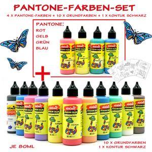 Window Color 15er Set Pantone Fensterfarben Malfarben