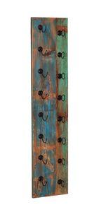 SIT Möbel Wand-Weinregal   für 8 Flaschen   Altholz bunt   Altmetall schwarz   B 33 x T 4 x H 148 cm   09132-98   Serie RIVERBOAT