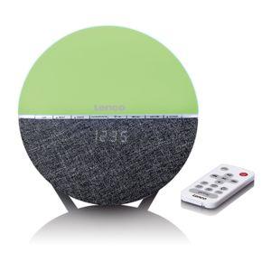 Lenco Radiowecker CRW-4, Wake-Up Light (7 verschiedene Farben), Farbe: Grau