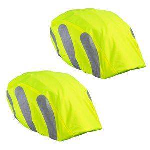 ECENCE 2x Helmüberzug Fahrradhelm - Helmüberzug Fahrrad - Regenhülle Fahrradhelm - Universal Helm