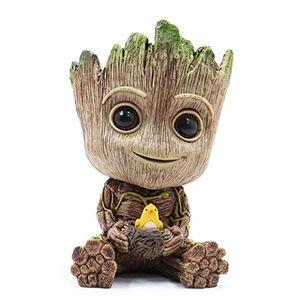 Baby Groot Blumentopf - Innovative Action-Figur für Pflanzen & Stifte aus dem Filmklassiker I AM Groot (F groß) 15x8,5x8,5cm