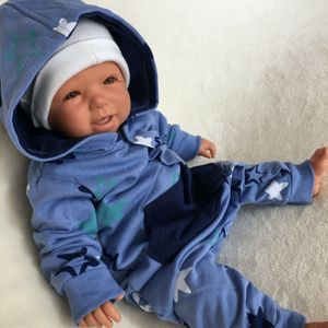 Baby Jungen Strampler Overall Jumpsuit Gr. 3-6 Monate (62/68) blau Sterne