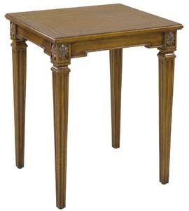 Casa Padrino Luxus Barock Beistelltisch Braun 48 x 44 x H. 62 cm - Edler Mahagoni Tisch im Barockstil - Barock Mahagoni Möbel