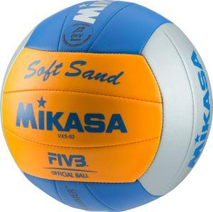 MIKASA Beach-Volleyball Soft Sand VXS-2 GRAU/ORANGE/BLAU 5