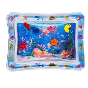 Wassermatte Baby, Wasserspielmatte BPA-frei, Baby Spielzeug 3 6 9 Monate, Baby Aufblasbare Spielmatte für Baby Spaßaktivitäten (60* 50cm)