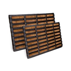 Entrando Fußmatte aus Kokos und Gummi - Braun 75x45 cm - Fußabtreter Außen für die Haustür