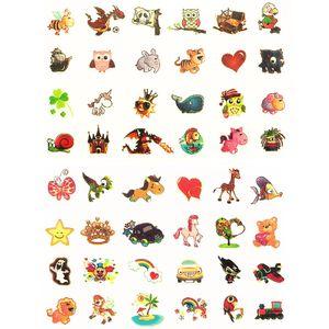 Oblique Unique Temporäre Klebetattoos Kinder Leuchttattoo Set - verschiedene Motive