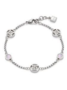 Leonardo 019566 Damen Armband Larina Edelstahl Silber weiß 21 cm