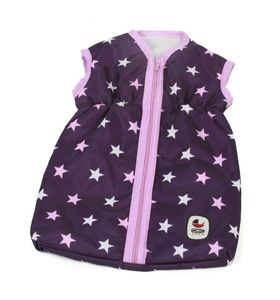 Puppenschlafsack Stars lila