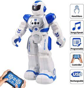 Kinder Ferngesteuerter Roboter, Intelligenter Tanzen-Roboter mit Infrarotprüfer-Spielwaren, programmierbar, singend, LED-Augen, Gesten-abfühlender Roboter der Kinder— QingShop