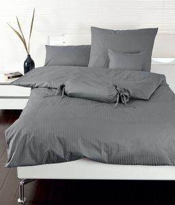 Janine Mako Brokat Damast Bettwäsche 2 teilig Bettbezug 155 x 220 cm Kopfkissenbezug 80 x 80 cm Rubin titan