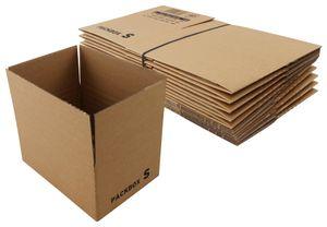 Faltkartons, braun, Automatikboden (10 Stück, 220x166x65-110mm)