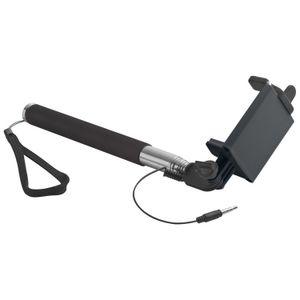 Selfie Stick mit Teleskopstab und integriertem Auslöser / Farbe: schwarz