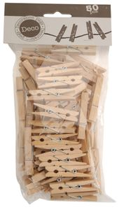 Mini Holzklammern - Modell: groß (4,5cm) - 50 Stück