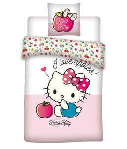 Hello Kitty - Baby Bettwäsche - Set 100x135 40x60cm Baumwolle Kleinkinder Rosa