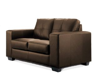 Sofa MADELAINE, 2-Sitzer Couchgarnitur, Pellissima Kunstleder, braun