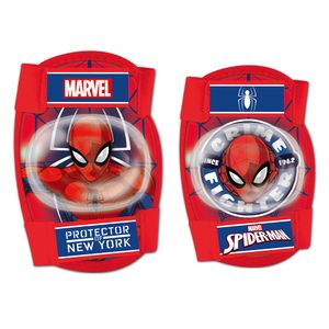 Disney schutzset Spider-Man junior Schaumstoff rot 4-teilig Größe S