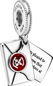 Pandora x Harry Potter Charm Anhänger 799125C01 Hogwarts Letter Silber 925 Rote Emaille