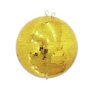 Spiegelkugel 30cm - gold - Safety - Diskokugel Echtglas - 10x10mm Spiegel PROFI