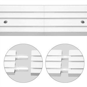 2er Pack Verbinder für Gardinenschienen, Verbinden von Vorhangschienen mit Innenlauf, passend für 1 Lauf, 2 Lauf und 3 Lauf Innenlaufschienen