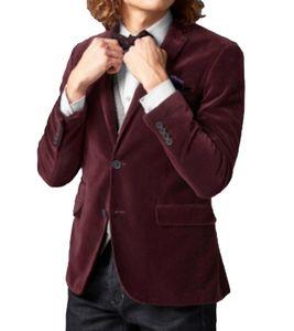 GUIDO MARIA KRETSCHMER Samt-Sakko edles Jackett für Männer Anzug-Jacke mit zartem Schimmer und weichem Griff Bordeaux, Größe:46