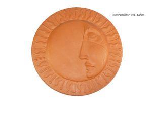 Wand Relief Mond, Terracotta, D:44cm
