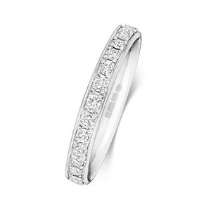 Platin 950 2,7mm Eternity Damen - Diamant Trauring/Ehering/Hochzeitsring Brillant-Schliff 0.58 Karat G - SI1, 53 (16.9); WJS2038PT950