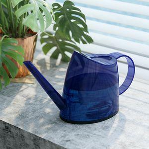 Gießkanne, 1,2 L Hohe Kapazität Gießkanne mit langen Ausguss für Garten Büro Topfpflanzen Bonsai Pflanzen(Blau)