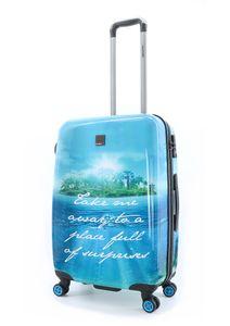 Saxoline Blue Koffer Spinner mit 4-Doppelrollen Gr. M 67 cm Island