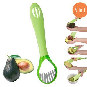 Avocadoschneider Avocadoschäler 5 in 1 Schält Entkernt Löst Schneidet Püriert