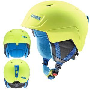 Uvex Manic Pro Kinder Skihelm - in Metallic-Matt-Optic, Größe:51-55 cm, Farbe:Neon Grün