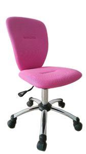 Jugenddrehstuhl Bürostuhl pink chrom-pink