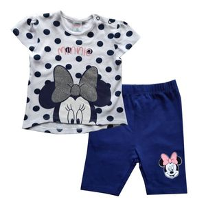 Disney Minnie Set Zweiteiler, weiß-blau, Glitzerdruck, Gr. 62-92 Größe - 86