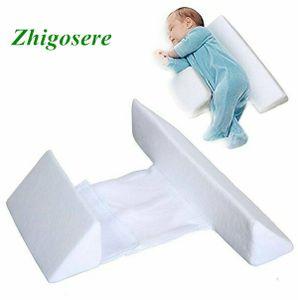 Grau + Farbbox Baby-Schlafkissen Einstellbare Unterstützung Anti-Roll-Seitenschlafkissen