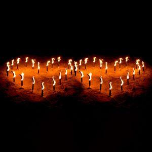 Fackelherzen-Set, Feuerherzen mit 45 Min. Brenndauer