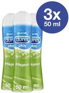 Durex Play Pflegend Gleit- & Erlebnisgel mit Aloe Vera Gleitmittel 3 x 50ml