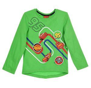 Disney Cars Kinder Langarmshirt mit Lightning McQueen Motiv, grün, Größe:116