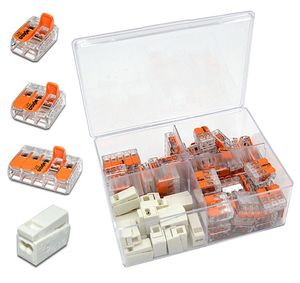 WAGO Box mit 85 Stück Verbindungsklemmen   Serie 221 und 224 Hebelklemme, Leuchtenklemme   Box Set Verbindungsklemme