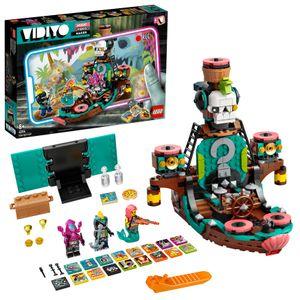 LEGO 43114 VIDIYO Punk Pirate Ship BeatBox Music Video Maker, Musik Spielzeug Set für Kinder mit AR App