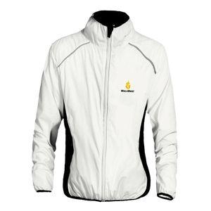 Fahrrad Radfahren Jacke Outdoor Sportbekleidung Winddicht Wasserdichter Mantel Weiß XL