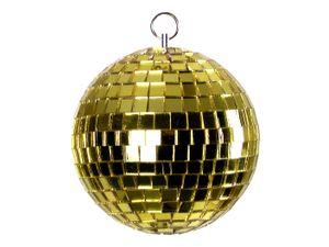 Spiegelkugel 5cm - gold - Diskokugel Echtglas - 5x5mm Spiegel - DEKO Serie