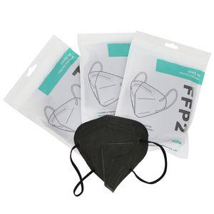 50 Stück FFP2 Hochleistungsfiltermaske, die beste Schutzmaske, Erwachsenenmaske, CE0161 (schwarz)