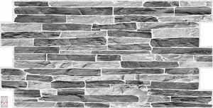 3D PVC FLIESEN Wandpaneele Wandverkleidung PVC-Verkleidung Silber Slate Wand Steinimitation (0,47qm)