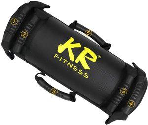 20kg Power Bag Gewichtstraining Sandsack Professioneller Sandsack Fitness Power Bag Kit für funktionelles Training Schwarz