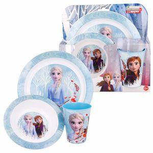frühstücksset Frozen II junior eisblau 3-teilig