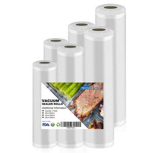 6 Rollen Vakuumbeutel für Vakuumierer  Vakuumierbeutel  2 x 20cm x 5m + 2 x 25cm x 5m  +2 x 28cm x 5m Set BPA frei & LFGB-zugelassene