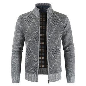 Winter Herren Casual Fashion Cardigan Sweater Jacke Größe:L,Farbe:Grau