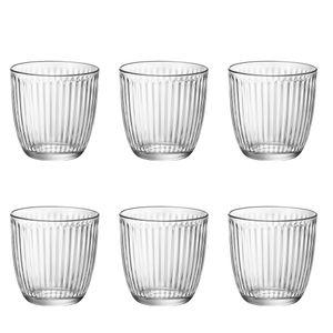 Bormioli Rocco 5.80500 Line Wasserglas Line 290 ml, H: 8,5 cm, ø 8,5 cm, Glas, klar, klar (6 Stück)