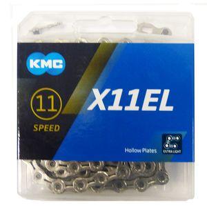 KMC Kette X11EL silber 1/2'' x 11/128'' 118 Glieder 5,65mm 11-fach